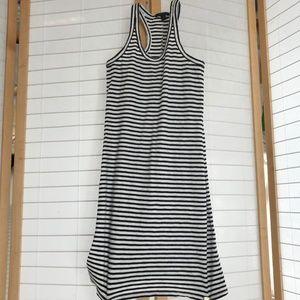 J. Crew XXS Navy blue & white stripe knit dress